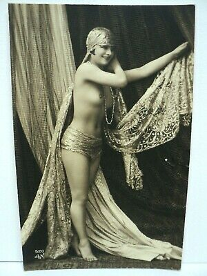 Cpa Carte-Photo Rppc Bayadere  Danseuse Du Ventre  Belly Dancer Annees 1920