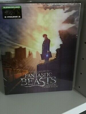 Fantastic Beasts & where to find them Bluray Blufans steelbook double lenti slip