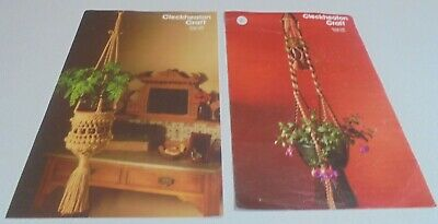 Cleckheaton Craft macrame Pot Plant Patterns #H09 and H06 3ply and 5 ply
