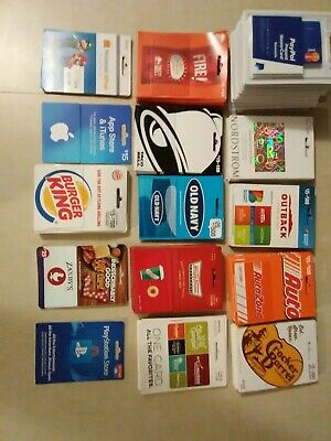 LOT 169 Cards - New Debit Cards & a Mix of Gift Cards zero balance