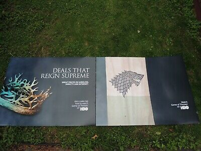 (2) Game of Thrones Oversize Posters House Stark Banner 42X55 Heavy Backing