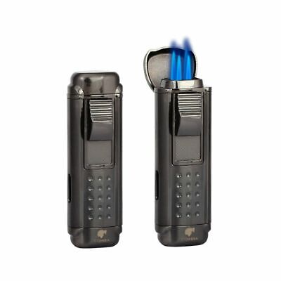 Cigar Lighter 4 Red Torch Jet Fire Windproof Refillable Cigarette Flame Lighter