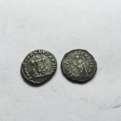 Nice Roman Silver x 2 Denarius Coins Needs Researching 1st 2nd Cent AD