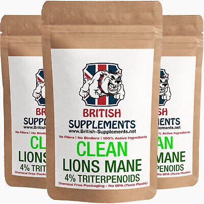 Clean Lions Mane Extract 20,130mg (Triterpenoids 26mg / Polysaccharides 100mg)