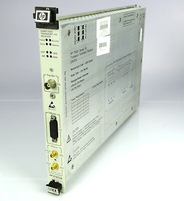 HP E1672A SONET/SDH Transport Overhead Receiver 75000 Series 90
