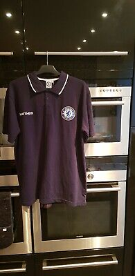 Chelsea FC Official Football Gift Mens Crest Polo Shirt, large