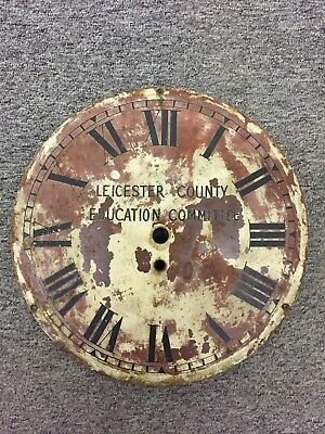 Rare Antique Late 19th Century Leicester County Education Committee Clock Dial