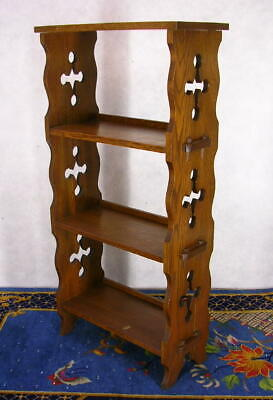 ANTIQUE MISSION OAK ARTS CRAFTS MAGAZINE STAND BOOKSHELF CUT OUTS 1910 Original