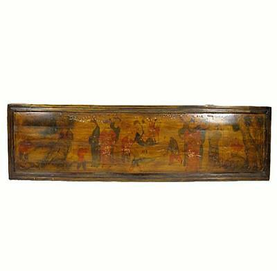 Hand Painted Antique Chinese Wall Hanging Plaque 1