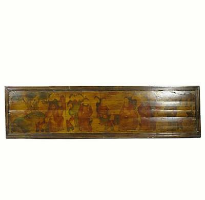 Hand Painted Antique Chinese Wall Hanging Plaque 2