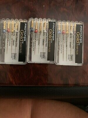 3 x Dentsply ProTaper Gold Files Assorted SX-F3 25mm