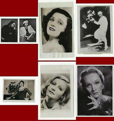 1930S Original 7  Diff Movie Star Fan Photographs Garbo Dietrich  Negri   #  286