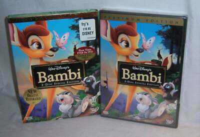 New Rare Oop Disney Bambi Platinum Edition 2 Disc Special Edition Movie Dvd 1942