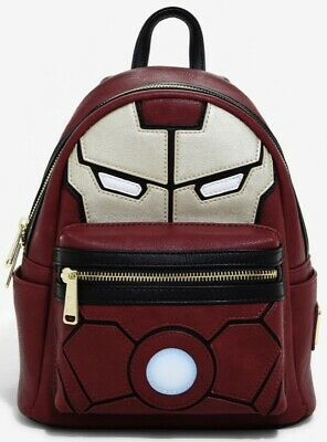 NEW WITH TAGS Loungefly Marvel Iron Man Light-Up Arc Reactor Mini Backpack