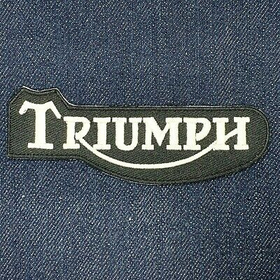 Triumph Motorcycles Logo Iron On Embroidered Patch