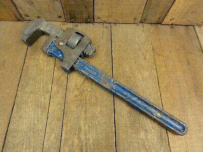 """Vintage RECORD Stillsons type 14"""" Pipe Plumbing Wrench Made in England"""