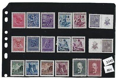 MH Postage stamp set /  B a M WWII Occupation / Third Reich era / All stamps MH