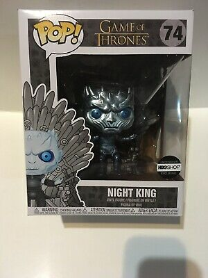 Funko Pop Metallic Night King on Iron Throne HBO Exclusive Game of Thrones New