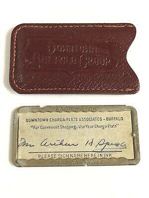 Vintage credit charge card Metal Charga-Plate Stores Downtown Buffalo NY