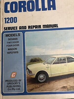 TOYOTA COROLLA 1200 WORKSHOP MANUAL 1970/1976 by Gregorys No 122