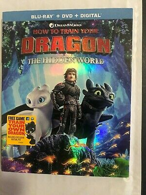 How To Train Your Dragon: The Hidden World Blu-Ray + DVD Combo Pack + Slipcover