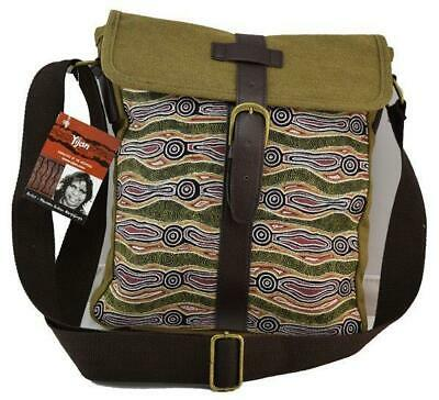 Yijan Aboriginal Art Messenger Bag - Water Dreaming Red