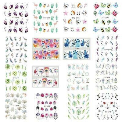 DIY Nail Sticker Butterfly Flower Water Transfer Decal Sliders for Nail-Art Hot
