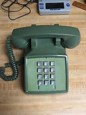 Vintage Western Electric Bell System Touch Tone Telephone Desk Phone Green #BRSC