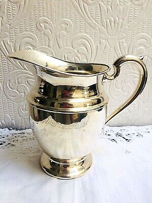 Vintage Mid Century PSCO Preisner Silver Co. Silverplate On Copper Water Pitcher