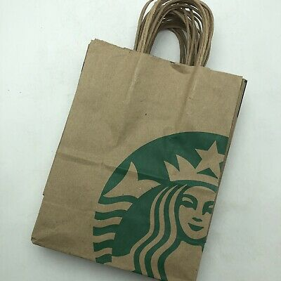 Lot of 15 Starbucks Reusable Recycled Brown Paper Shopping Lunch Bag w/ Handles