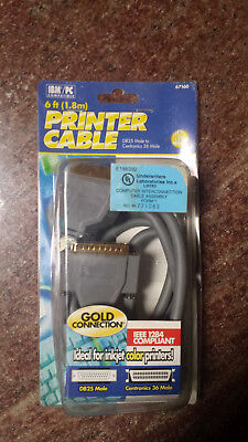 10Ft DB25 Male to Centronics 36 Male Parallel Printer Cable IE84-10AB