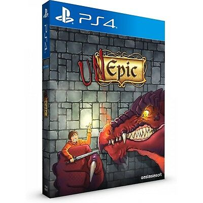 Unepic + Slipcover PS4 Playstation 4 EastAsiaSoft Limited Run Brand New Sealed
