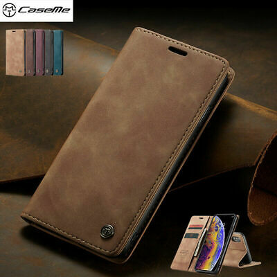 For iPhone XS Max 8 7 6S Plus Luxury Flip Leather Card Wallet Stand Case Cover