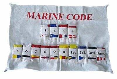 Nautical Sailboat Boating Signal Code FLAG - Set of Total 14 with COVER - COTTON