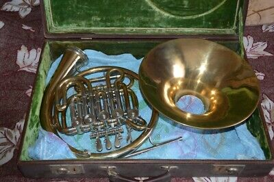 Vintage Double French horn  Knopf. SEE Video