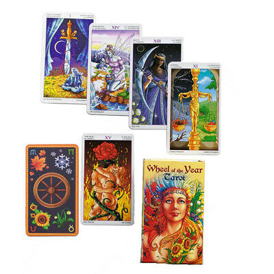 78x Wheel Of The Year Tarot Card Oracle Dancing With The Seasons Deck Cards Game