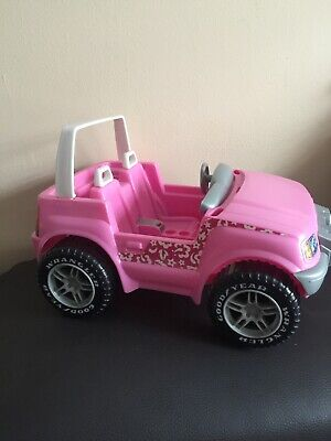Pink Convertible Jeep Wrangler Barbie 1999 Vehicle Mattel Vintage Toy