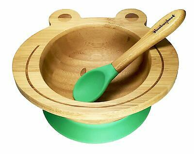 Boobamboo Smart Hold Suction Bowl, Stay Put, Organic Bamboo Crayon Green