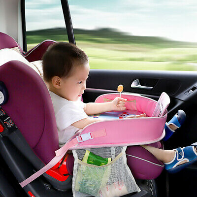 Kids Baby Travel Tray For Car Seat Activity Table With Pockets Tablet Holder New