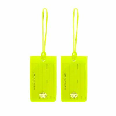 Globite Jelly Luggage Tags 2pk - Green Travel Accessories