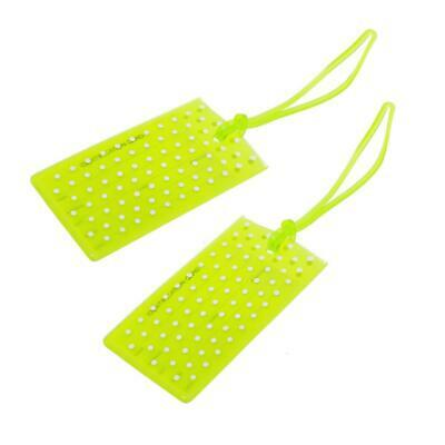 Globite Jelly Luggage Tags Spot 2 Pk-Green Travel Accessories