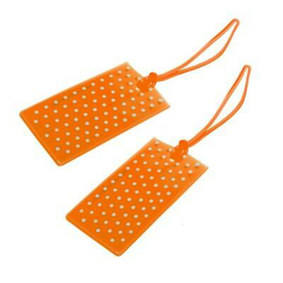 Globite Jelly Luggage Tags Spot 2 Pk-Orange Travel Accessories