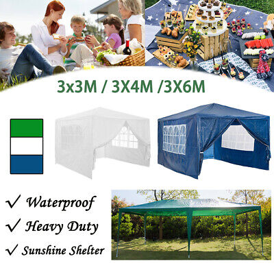 4x3/3x3/6x3M Gazebo Marquee Party Tent Waterproof Garden Outdoor Canopy Sidewall
