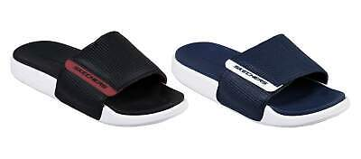 SKECHERS MENS NAVY Blue Black Red Gambix 2.0 Sandals Beach