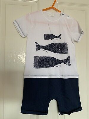 BNWOT NEXT Boys Romper 1-1 1/2 Yrs 12-18 Months Shortie All In One