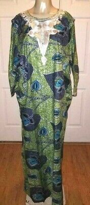 Beautiful Green and Black Traditional Tribal Dashiki Plus Size One Size