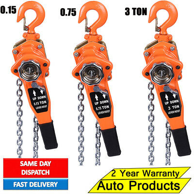 750/1500KG 0.75/1.5Ton Chain Block Hoist Heavy Duty Tackle Engine Lifting Pulley