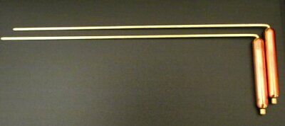 Copper Dowsing L Rods 11in29cms long with 3in7.5cm Copper Handles Use for fi