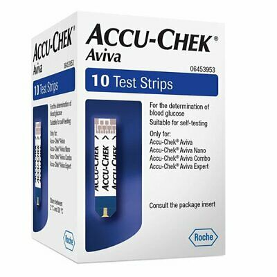 Accu-Chek Aviva Test Strips Pack of 10 Eligible for VAT relief in the UK
