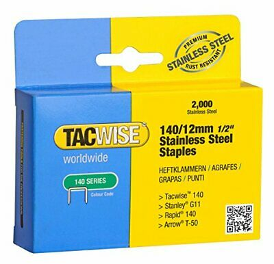 Tacwise 14012mm Stainless Steel Staples Box of 2000